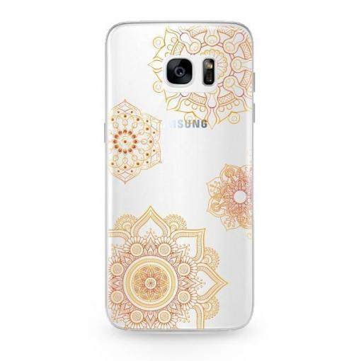 1da7f1ed328 Funda Caseland Vitrales Oro Samsung Galaxy S7 Edge Flexible | Las ...