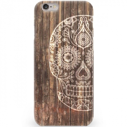 233dae88de1 Funda Caseland Calavera Madera Apple Iphone 6/6s Plus Rigida | Las ...
