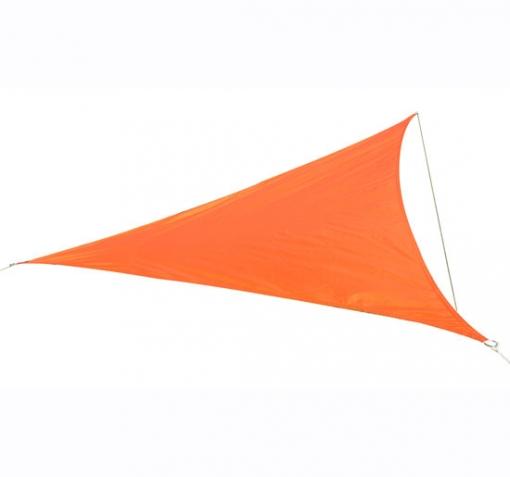 toldos jardin Outsunny Toldo Vela Triangulo Tipo Sombrilla O Parasol Para Terraza Jardn O Camping Color Naranja 6x6x6m