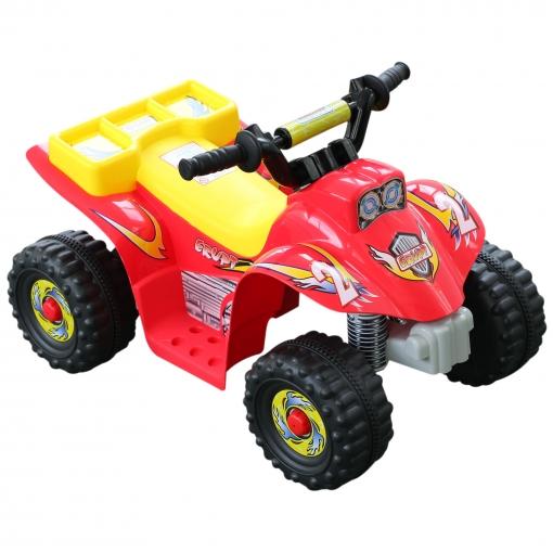 Y Rojo Quad 65 De Homcom Negro Tipo Amarillo X Infantil 43 Eléctrico Polipropileno Bateria Coche Cm Ybg6f7y