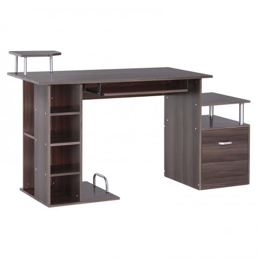Mesas De Ordenador Para Salon.Homcom Escritorio De Oficina Para Ordenador Mesa Para Pc Madera E1