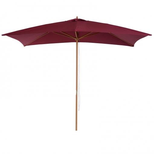 Sombrilla tipo parasol para terraza y jard n color vino - Sombrilla de terraza ...