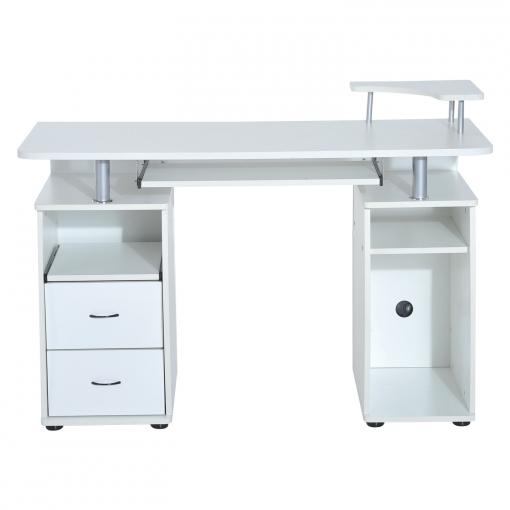 Mesa de ordenador homcom escritorio para oficina color for Mesa escritorio carrefour