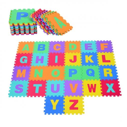 alfombra puzle letras abecedario a-z para niños - goma eva 2,41 m2