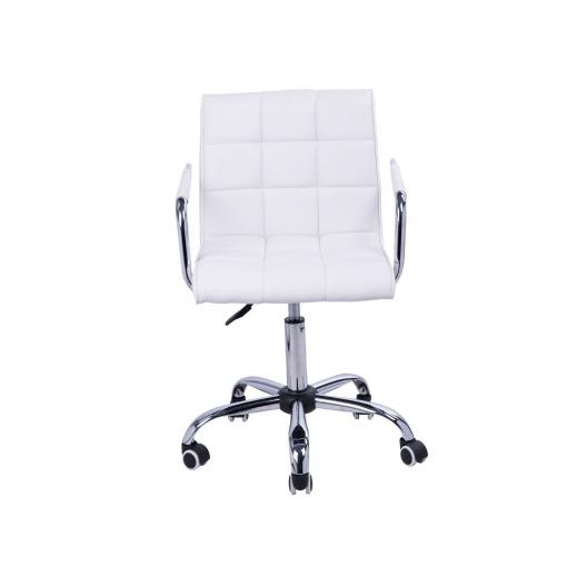 Homcom® Sillas De Oficina Blancas Pu + Pvc - 52,5x54x82-96cm