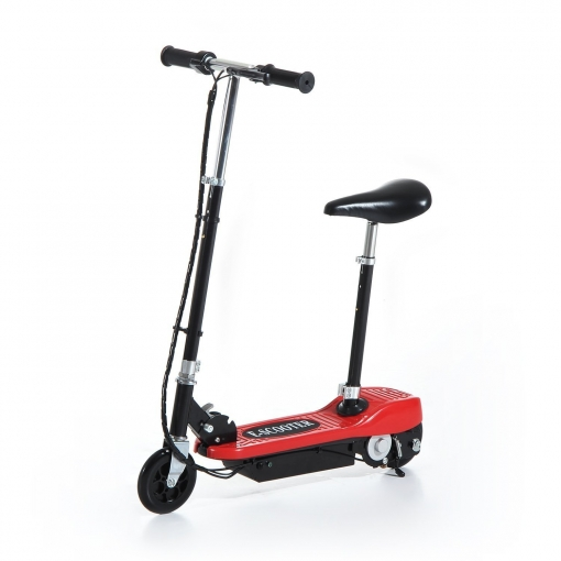 6d8bf8682226f Homcom® Patinete Eléctrico Plegable E-scooter Batería 120w Manillar Asiento  Ajustable Rojo