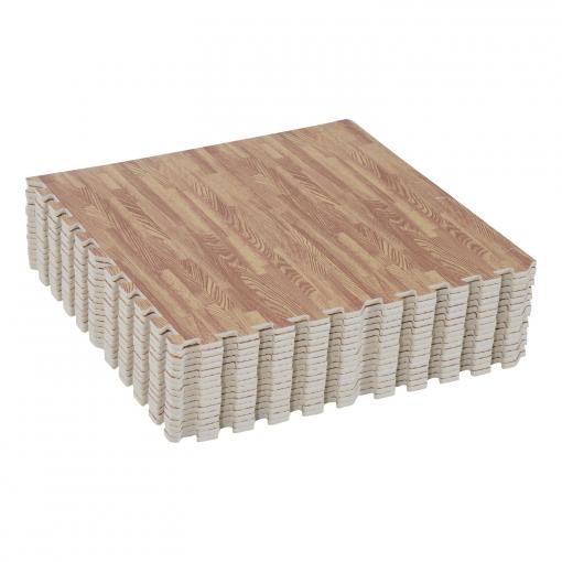 alfombra puzzle para niños o gimnasio– color marrón – goma espuma