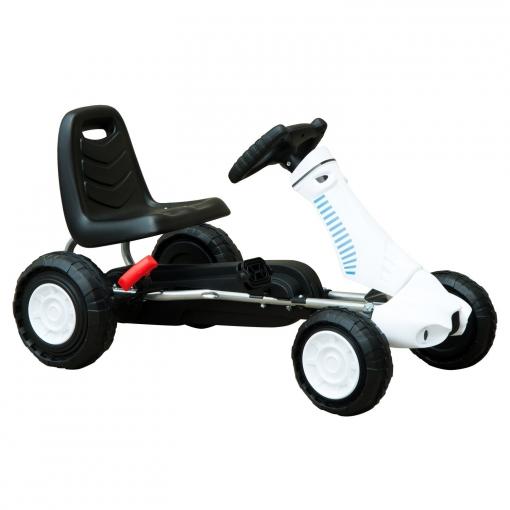 48cm X 5 Color Go Kart Coche Pedales Frenos Para Años Con Y Blanco 5 Deportivo Negro Homcom Niños Acero 83 3 48 De iOkXuwPZT