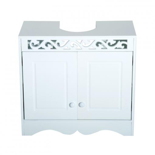 Homcom Armario De Baño Bajo Para Lavabo Con 2 Puertas Y Estantes - Blanco -  60x30x56cm 8ed7655ae4d6