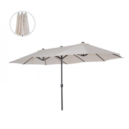 Outsunny Sombrilla Parasol Doble Para Jardín Terraza Playa Piscina ...