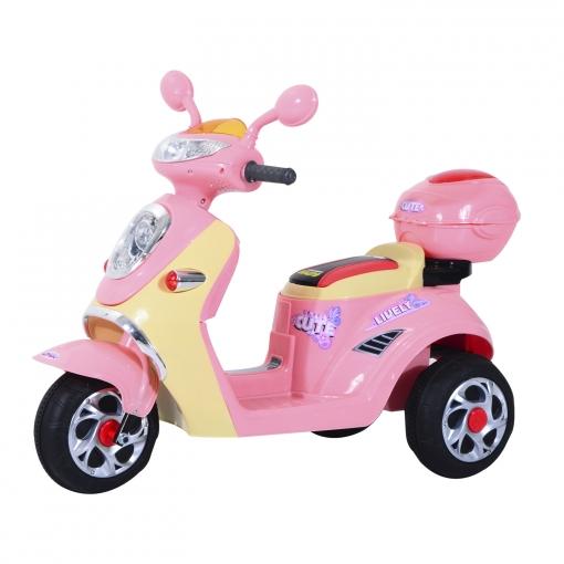 9a1b0249ee32e Homcom® Coche Triciclo Moto Eléctrica Infantil Correpasillos A Batería  Niños 3-8 Años 108x51x75cm