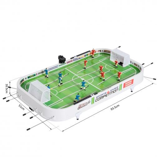 Homcom Juegos De Futbol De Mesa Con Jugadores Moviles Futbolin Para
