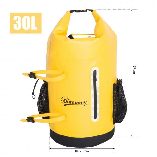 c3d15985aa0 Outsunny® Bolsa Estanca 30l Pvc Bolsa Seca Impermeable Φ27.5x67cm ...