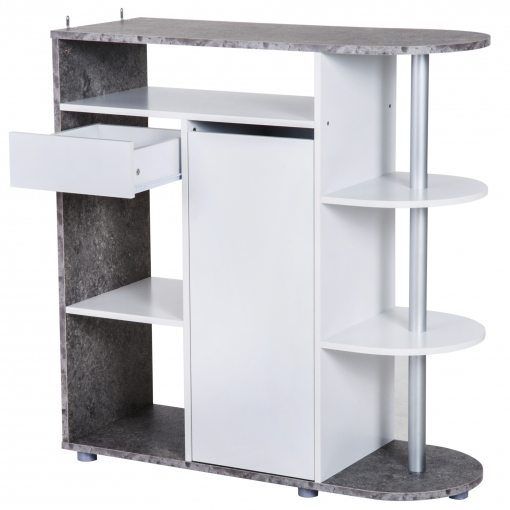 Homcom mueble auxiliar organizador de cocina 1 caj n 1 for Muebles auxiliares de cocina carrefour