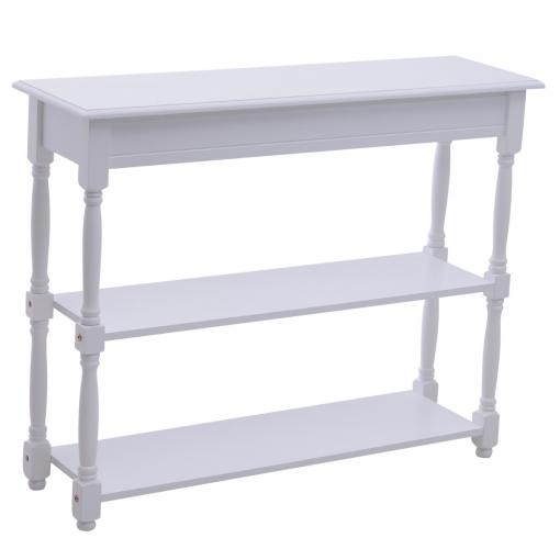 Homcom® Mueble Recibidor Pasillo Mesa Consola Entrada Con 2 Estantes Blanco  Madera 100x30x80cm e279f682207c