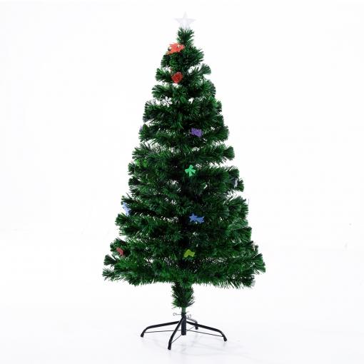 Homcom árbol De Navidad 120cm Artificial árbol Con Soporte Metálico