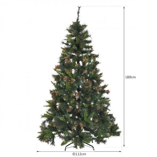 Homcom rbol de navidad artificial rbol 180cm con - Arbol artificial de navidad ...