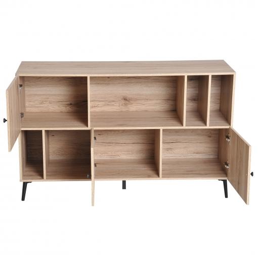Homcom® Armario Gabinete Mueble Multiusos De Comedor 120x38.5x74cm ...