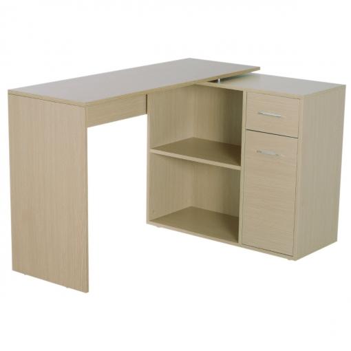 Homcom® Mesa De Ordenador Escritorio Mesa Esquinera Con Librería ...