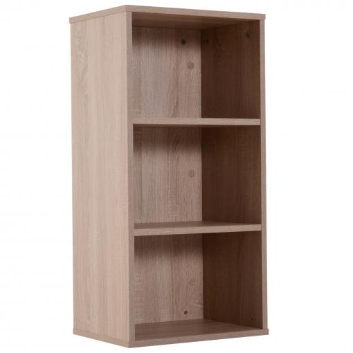 b4f5607dd Homcom® Estantería Para Libros Librería De Madera 3 Estantes Biblioteca Organizador  Para Hogar Y Oficina 40x29x80cm Color Madera con Ofertas en Carrefour ...