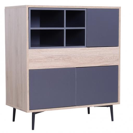 Homcom® Armario Gabinete Consola Armario Bajo Mueble Aparador Organizador  De Almacenaje Multiusos De Cocina Comedor Salón 78x39x87.2cm