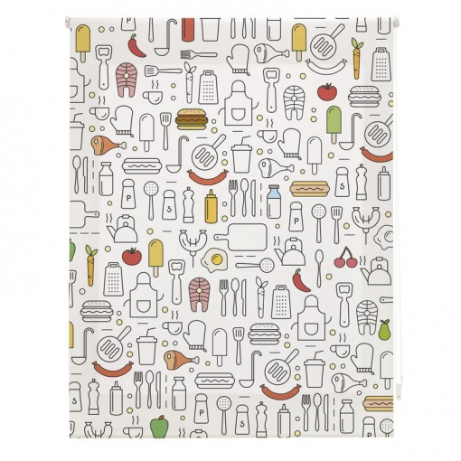Homeflex - Estor Digital Cocina Art Print, Colores, 150x180cm