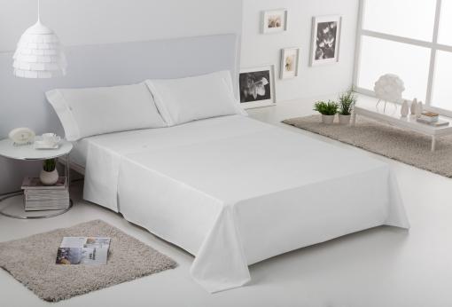 Sábana Encimera Blanco Cama 105