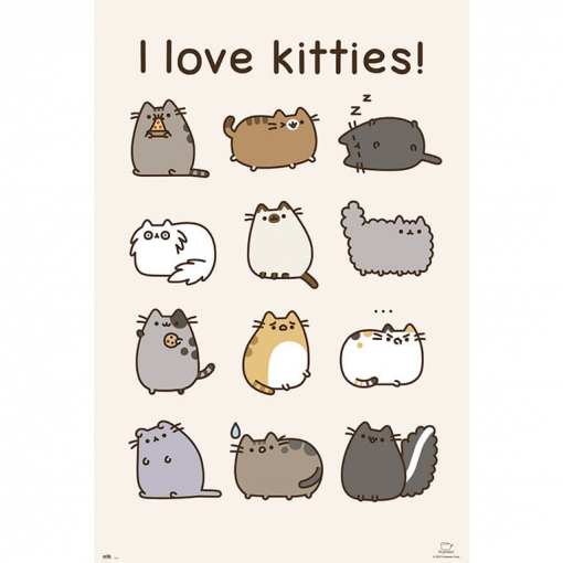 Maxi Poster Pusheen The Cat I Love Kitties