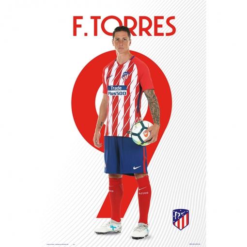 Poster Atletico De Madrid 2017/2018 Fernando Torres | Las mejores