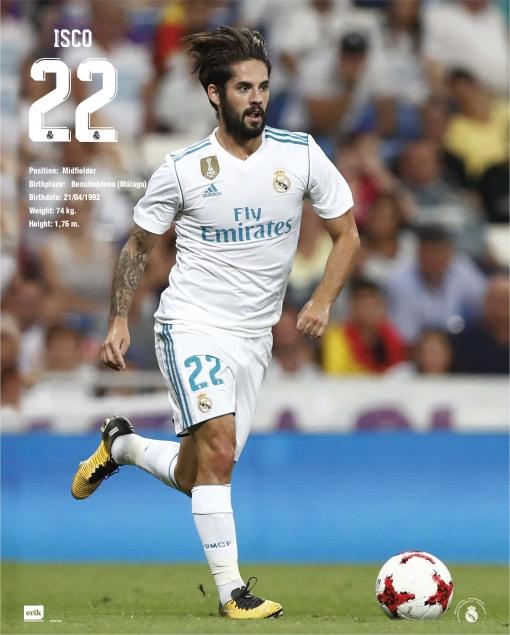 Mini Poster Real Madrid 20172018 Isco Las Mejores Ofertas De