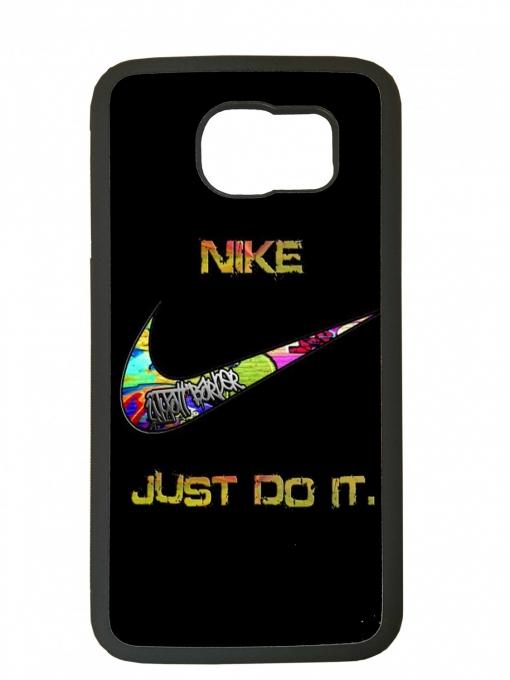 679c3718ccb Carcasa Para El Movil Funda Compatible Con Samsung Galaxy S6 Nike Negro  Marcas