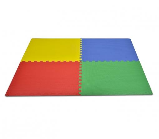 393062 alfombra puzzle eva 4 piezas multicolor juego modular 60x60x1