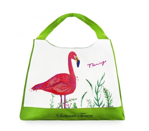 424117 Bolso De Playa Sabrina Tenori Flamingo Con Doble Asa De Varios  Colores  8a3fed2dd14d9