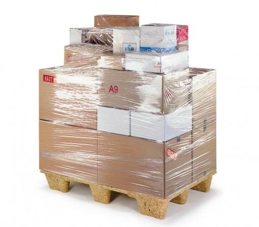 Pack 6 Pz Retráctil Transparente Elástico Manúal 23 My Película 2.4 Kg 500 Mm