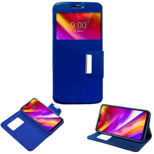 fa3272c421 Donkeyphone - Flip Cover Azul Para Lg G7 Funda Con Ventana, Tapa, Apertura  Libro