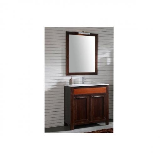 Mueble Baño Con Lavabo Y Espejo Con Luz 80cm Estilo Clasico Color Wengué Y Cerezo Con Ofertas En Carrefour Las Mejores Ofertas De Carrefour