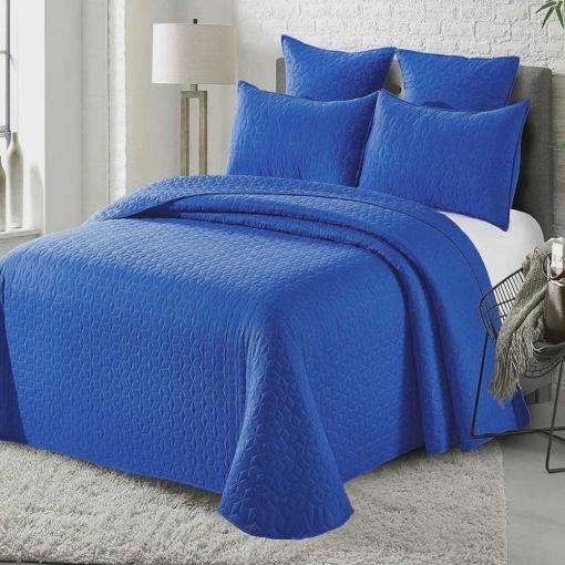 Colcha Bouti Castro Color Azul Cama 200 ( 310x260 Cm