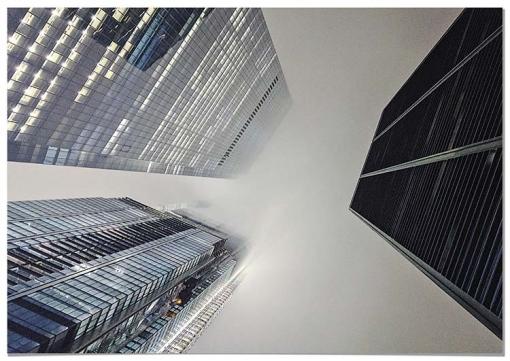 Panorama® Cuadro De Aluminio Vista Aérea Rascacielos Nueva York 50 X 35 Cm | Impreso En Aluminio Dibond Blanco De Alta Calidad | Cuadros Paisajes | Cuadros Zen | Cuadros Decoración Salón Y Dormitorio