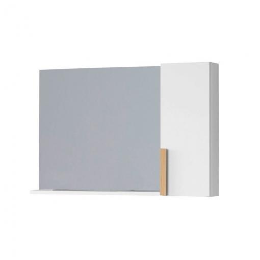 Mueble De Baño Suspendido Nordic Auxiliar 80 X 60 X 17 Cm Blanco
