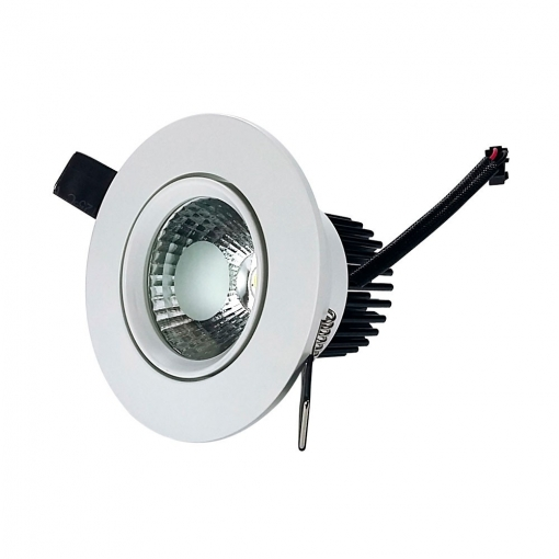 Downlight Led Cob Empotrable Orientable 7w Fria 6000k