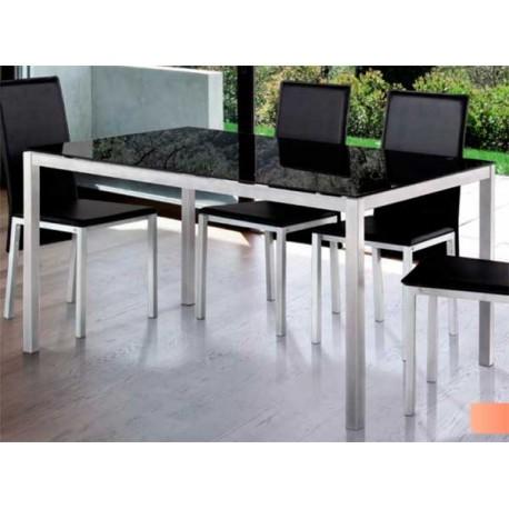 Mesa De Comedor Nova Cristal Negro O Blanco | Las mejores ofertas de ...
