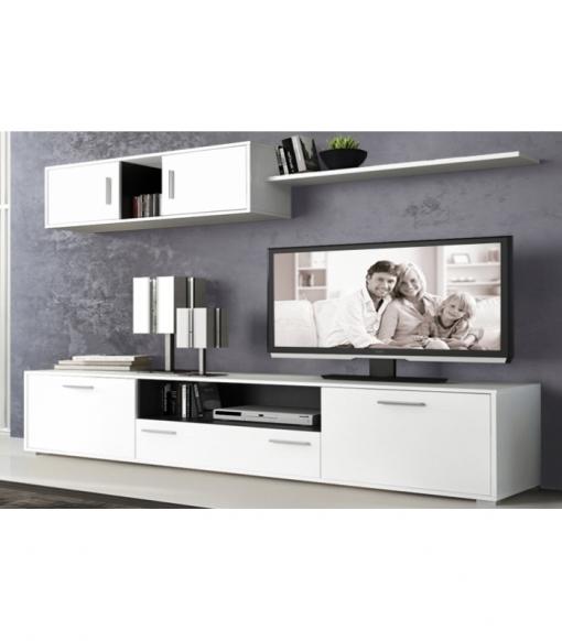 Muebles de salon modernos y baratos en color blancografito - Muebles salon modernos ...