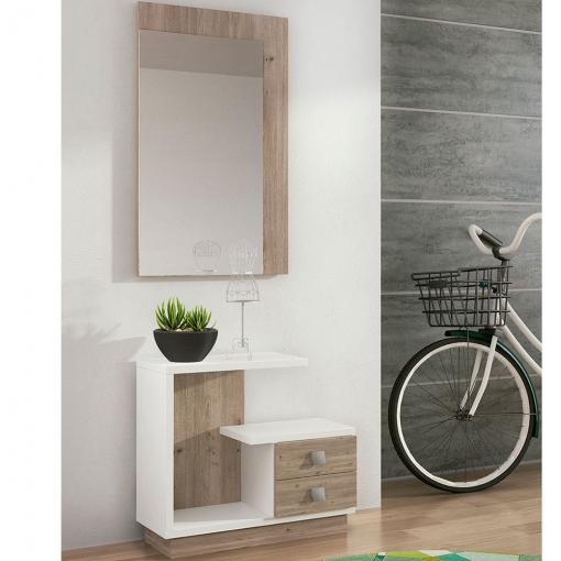 Mueble de recibidor moderno y barato en color nelson - Mueble recibidor moderno ...