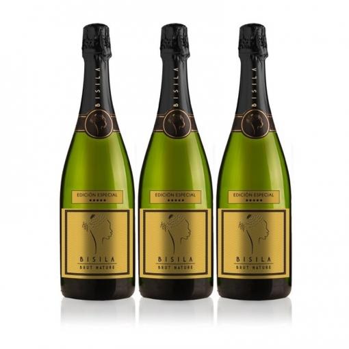 Ladrón De Lunas Cava Bisila Brut Natural Edición Especial. Cava De La Comunidad Valenciana. 100% Chardonnay. Pack De 3 Botellas