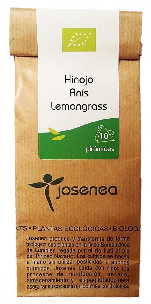 Infusión Hinojo, Anis, Lemongrass, En Pirámides, 10pir/20gr