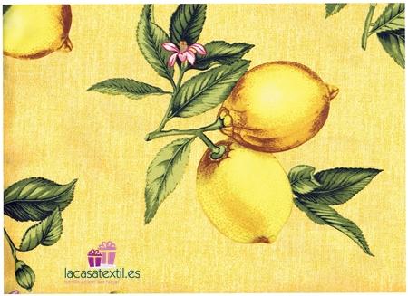 Texturas Home - Mantel Resinado Antimanchas Limon Amarillo ( Varios Tamaños Disponibles ) - Medida Mantel: Rect. 140x250 Cm