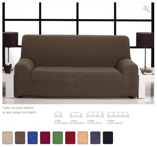 ( -50% Reacondicionado ) - Funda De Sofá Elástica Texturas Selection Túnez ( Varios Tamaños Disponibles ) - Color: Burdeos - Opción Sofá: Trio ( 1+1+3)