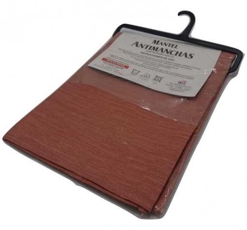 Texturas Home - Mantel Antimanchas Teflon Impermeable Texturas ( Tablecloth Anti-stain Waterproof ) - Color: Avellana - Medida Mantel: Rect. 100x140 Cm