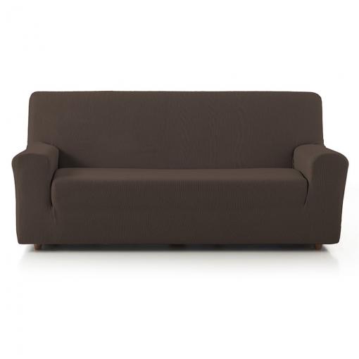 Fundas De Sofa Baratas.Promopack Duo 3 2 Funda Sofa Elastica Rustica Texturas Home Color Marron
