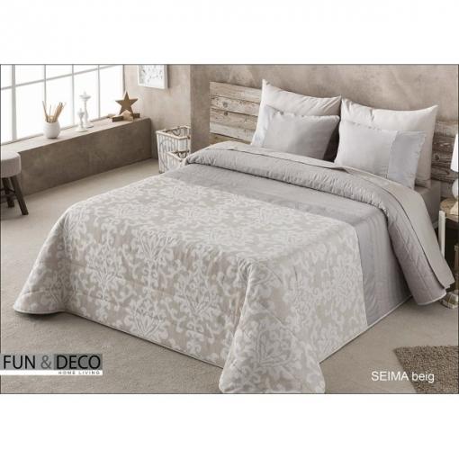 Fundeco - Bedspread Colcha Verano Antilo Seima Beige Summer Quilt ( Varios Tamaños Disponibles ) - Cama: 135 / Double